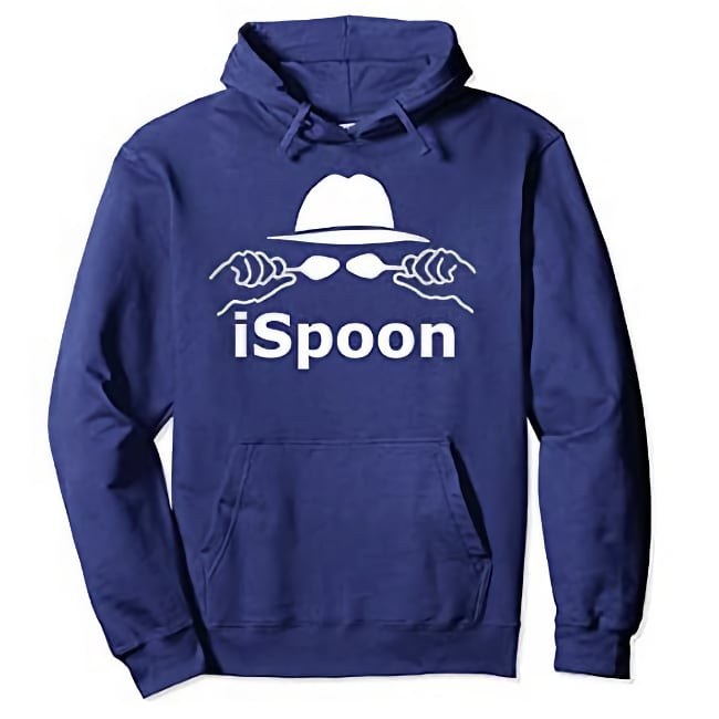 navy ispoon hoodie